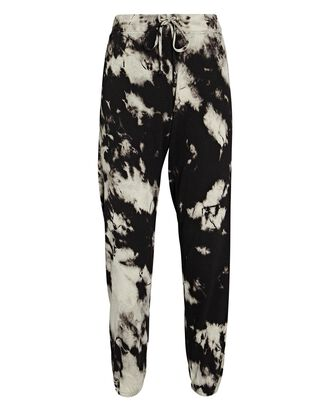 Tie-Dye Knit Sweatpants, BLACK, hi-res