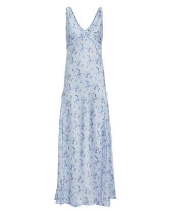 Kendall Silk Floral Dress, MULTI, hi-res