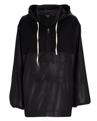 Alena Hooded Half-Zip Anorak, BLACK, hi-res