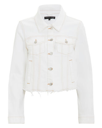 Cara White Denim Jacket, WHITE DENIM, hi-res
