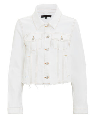 Cara Denim Jacket, WHITE DENIM, hi-res