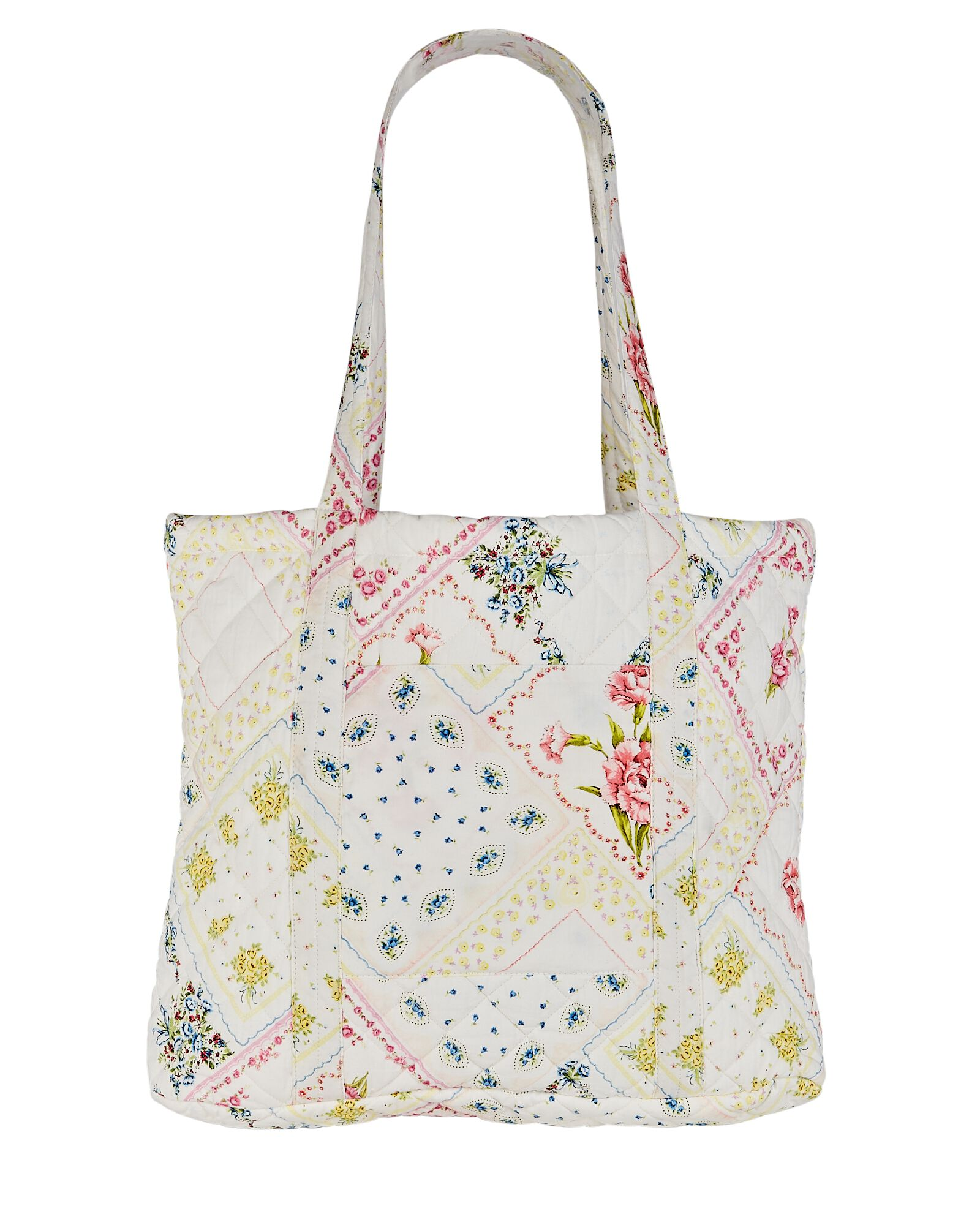 Henderson Quilted Floral Cotton Tote, IVORY, hi-res