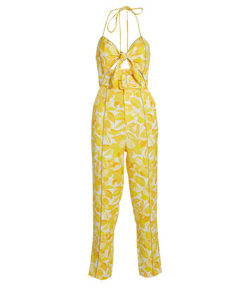 Rockpool Floral Jumpsuit, YELLOW/FLORAL, hi-res