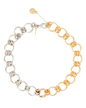 Transitivus Two-Tone Chain-Link Necklace, SILVER/GOLD, hi-res