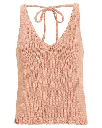 Aimee Metallic Sleeveless Sweater, ROSE, hi-res