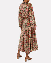 Beatrix Velvet Floral Wrap Dress, GREY/PINK FLORAL, hi-res