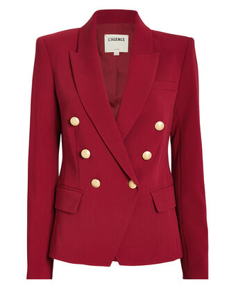 Kenzie Double Breasted Blazer, RED, hi-res
