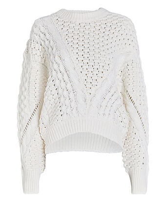 Wool-Blend Cable Knit Sweater, , hi-res