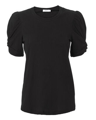 Kati Puffed Sleeve Black T-Shirt, BLACK, hi-res