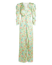 Odeon Floral Silk Dress, MULTI, hi-res