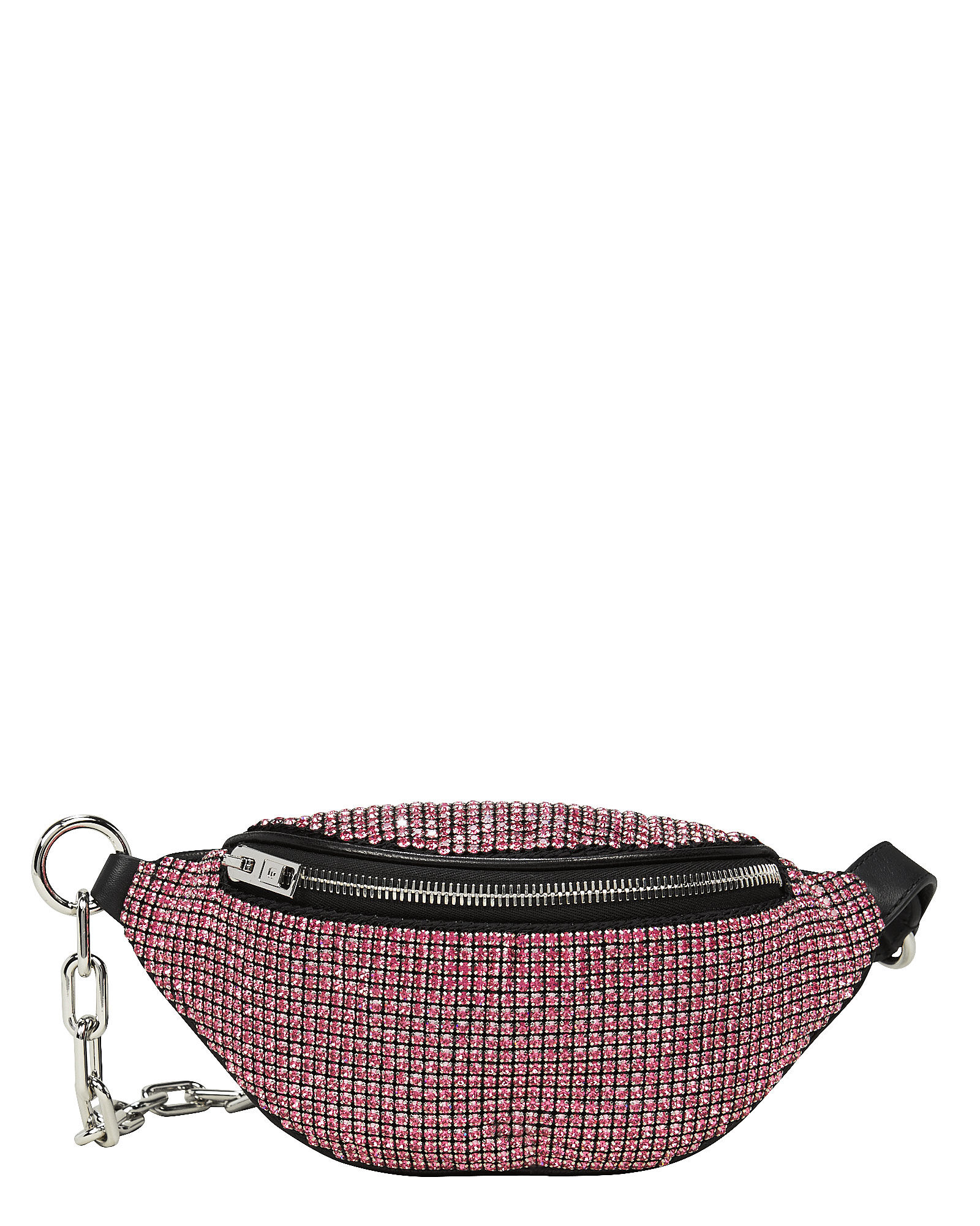 Attica Rhinestone-Embellished Mini Fanny Bag, PINK/BLACK, hi-res