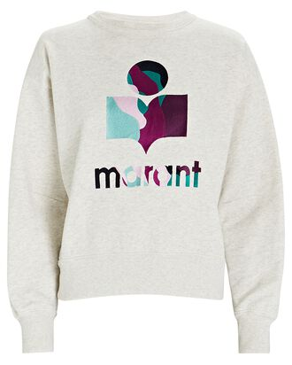 Mobyli Embroidered Logo Sweatshirt, IVORY, hi-res