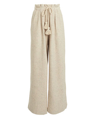 Ayana Speckled Fleece Pants, SPECKLED BEIGE, hi-res