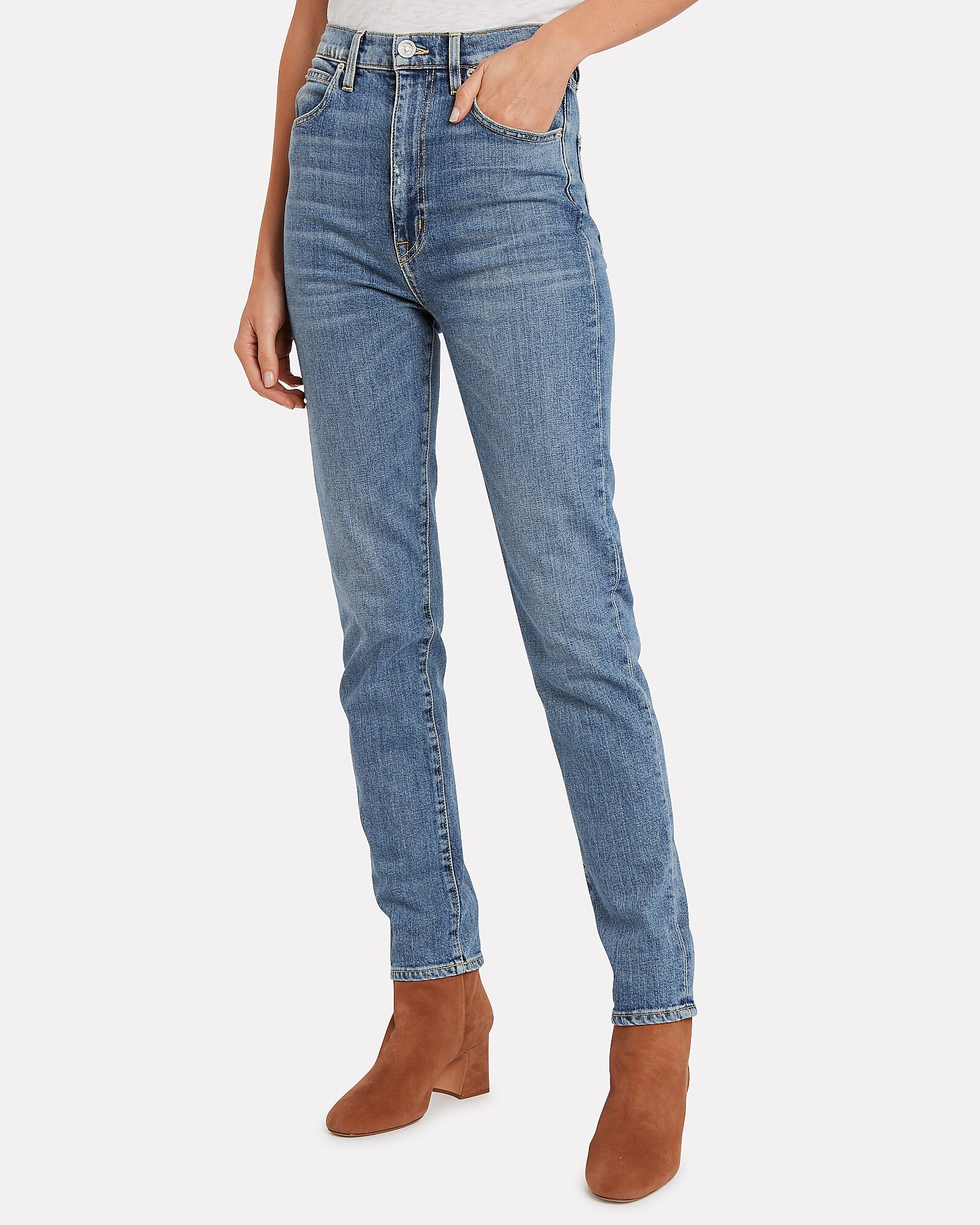 Beatnik Slim High-Rise Jeans, DENIM, hi-res