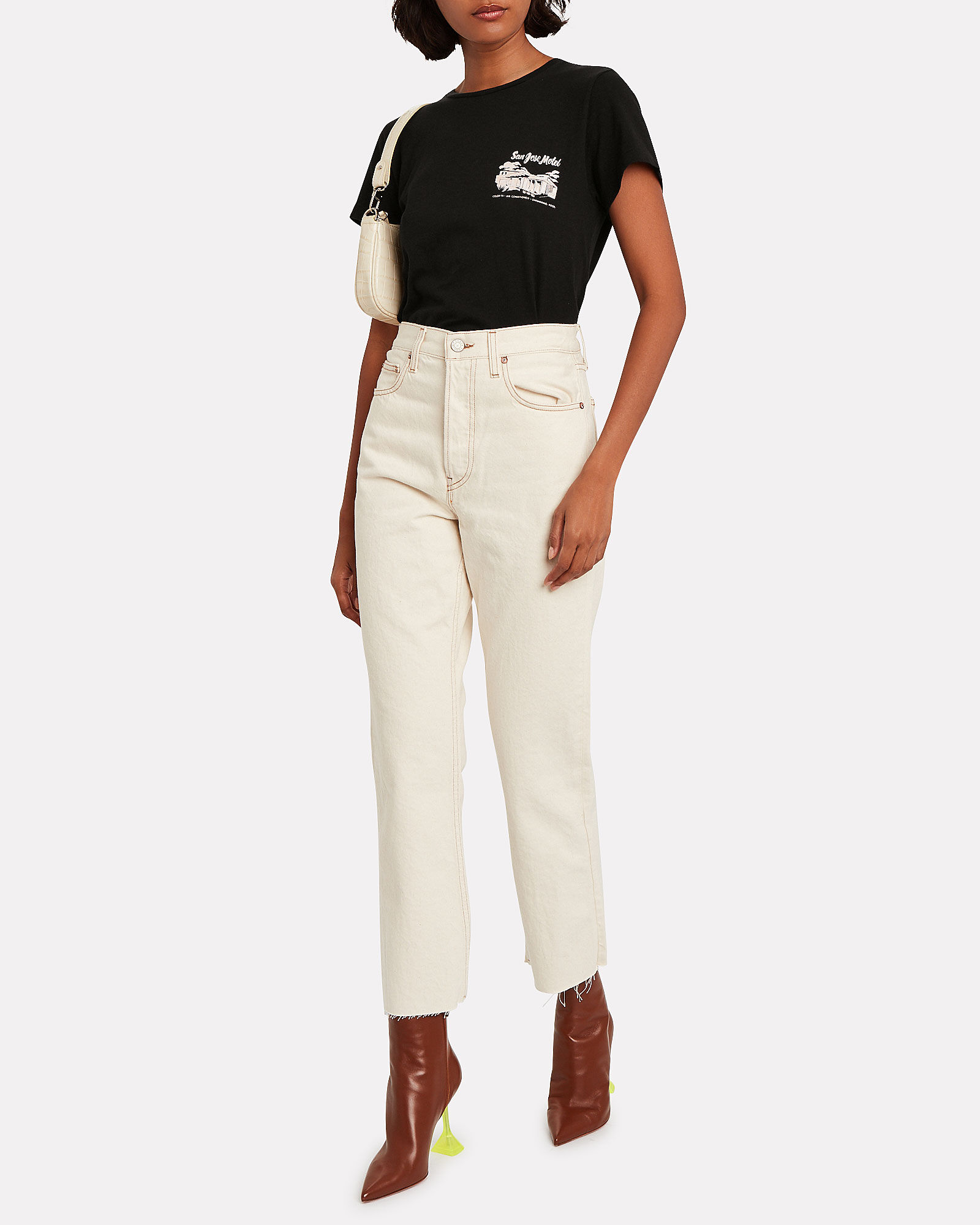 Gia High-Rise Cropped Jeans, WHITE, hi-res