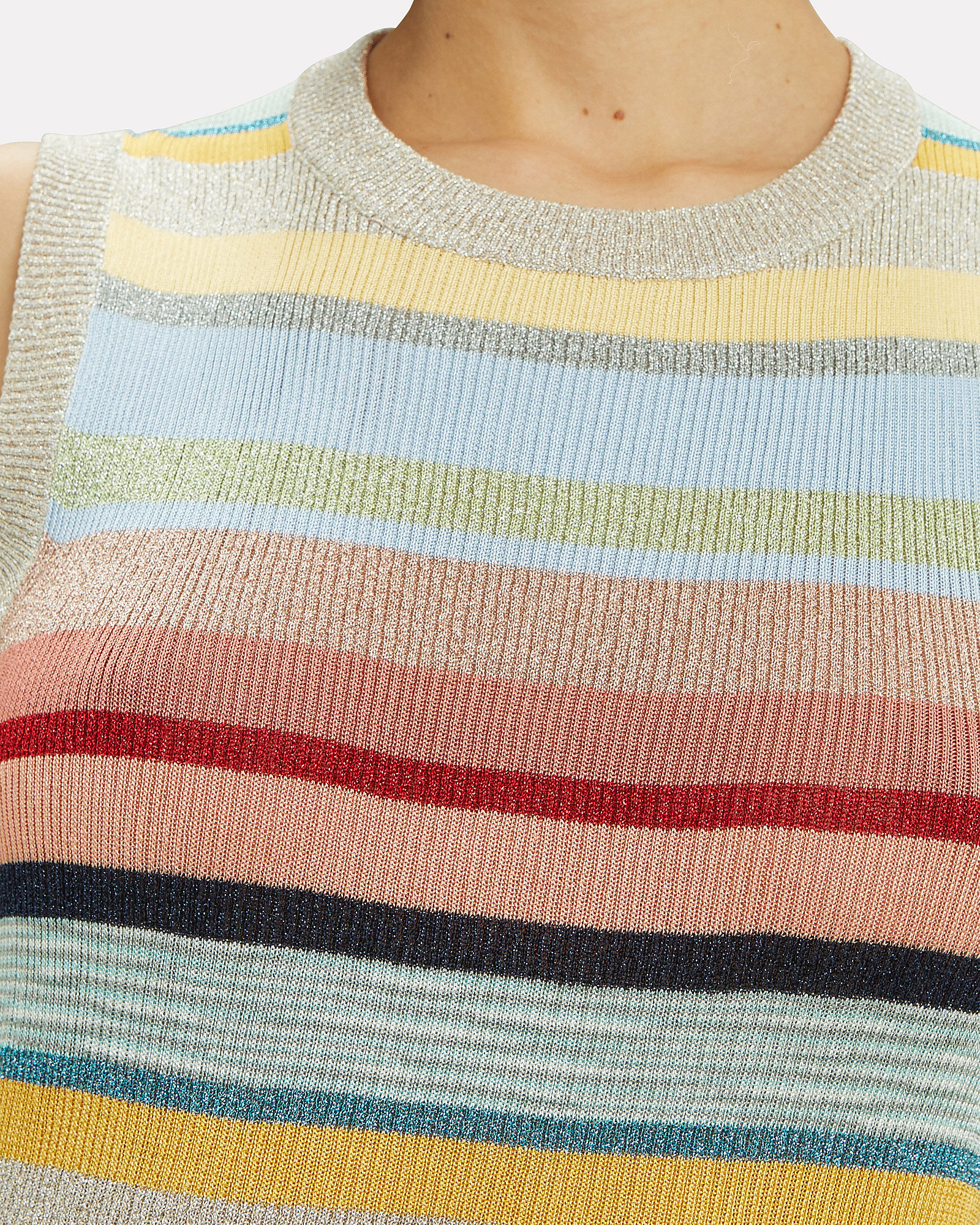 Rainbow Stripe Lurex Top, RAINBOW/STRIPES, hi-res