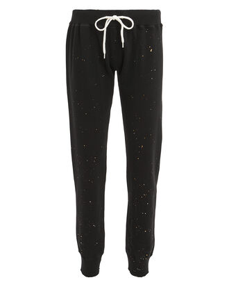 Splatter Black Sweatpants, BLACK, hi-res