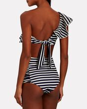 Migrate South Striped Bikini Bottoms, NAVY, hi-res