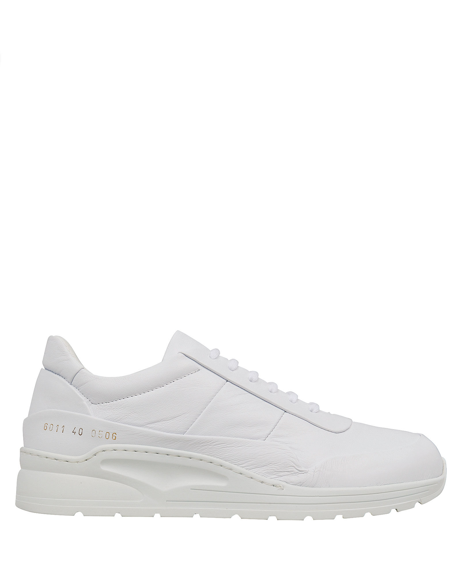 Cross Trainer Leather Sneakers, WHITE, hi-res