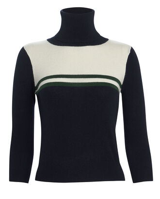 Belle Striped Cashmere Turtleneck Sweater, NAVY/WHITE STRIPE, hi-res