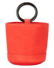 Bonsai Red Leather Mini Bucket Bag, RED, hi-res