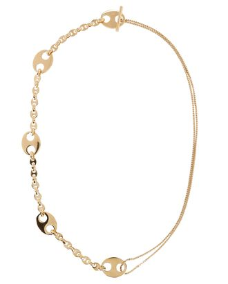 Eight Nano Mixed Chain-Link Necklace, GOLD, hi-res