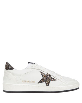 Ball Star Glitter Sneakers, WHITE, hi-res