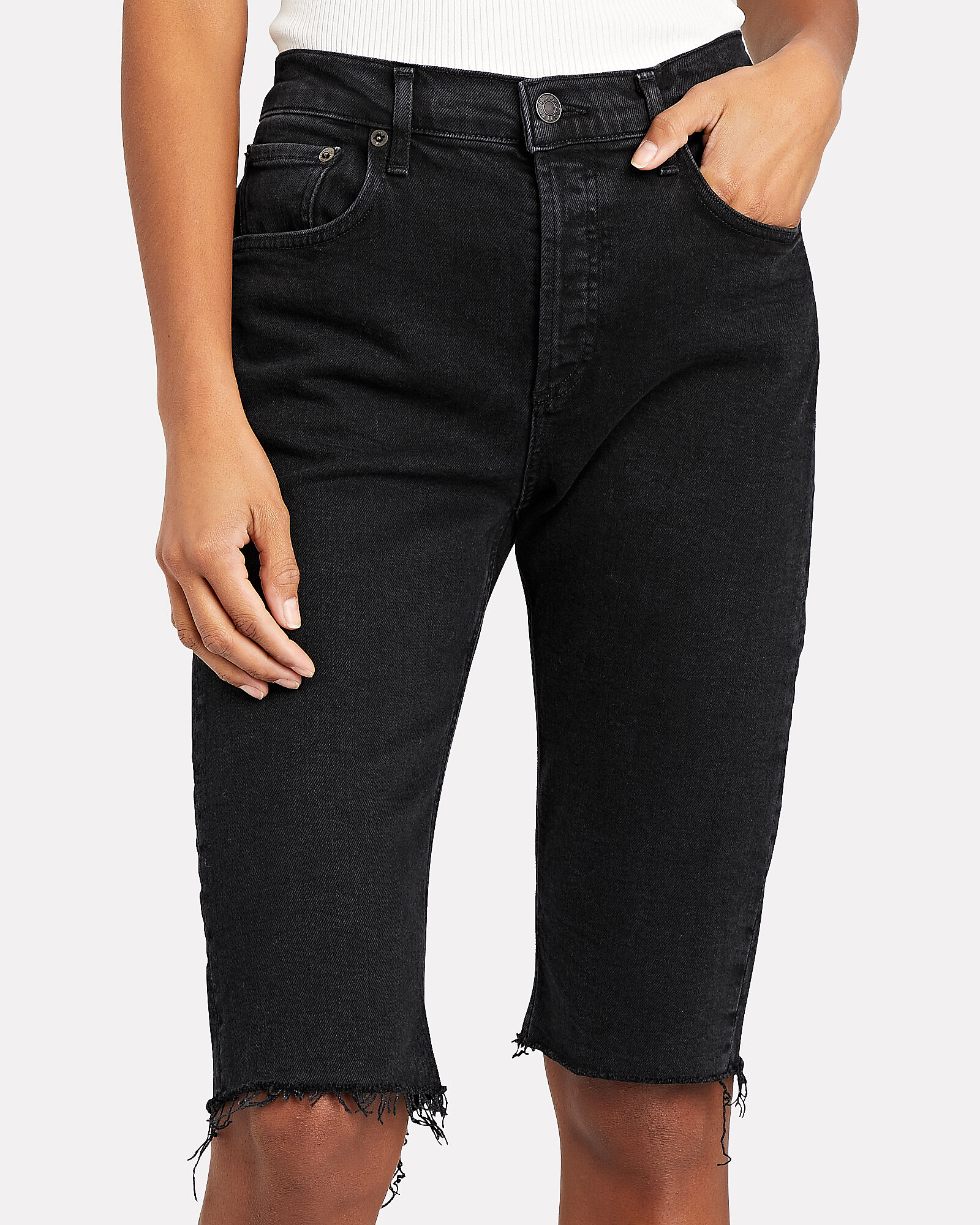 Carrie Skinny Bermuda Denim Shorts, Stunner, hi-res