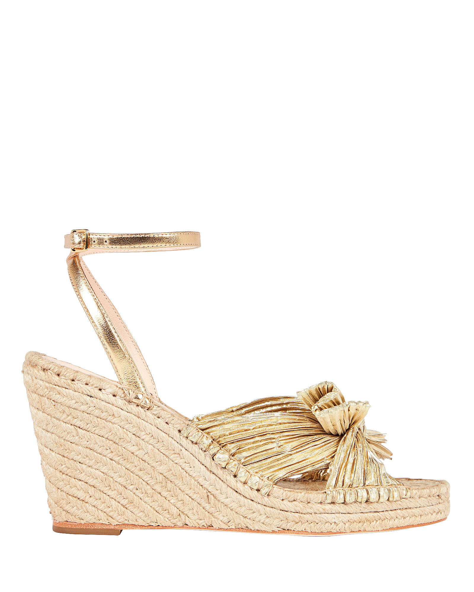 Charley Knotted Espadrille Wedges, GOLD, hi-res