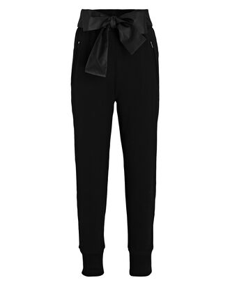 Tie-Waist French Terry Joggers, BLACK, hi-res