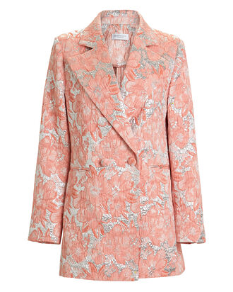 Daria Double-Breasted Brocade Blazer, MULTI, hi-res