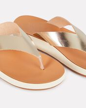 Charys Leather Thong Sandals, GOLD, hi-res