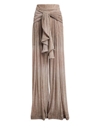 Draped Ombré Wide Leg Pants, CHAMPAGNE, hi-res