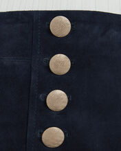 Brianna Suede Mini Skirt, BLUE-DRK, hi-res