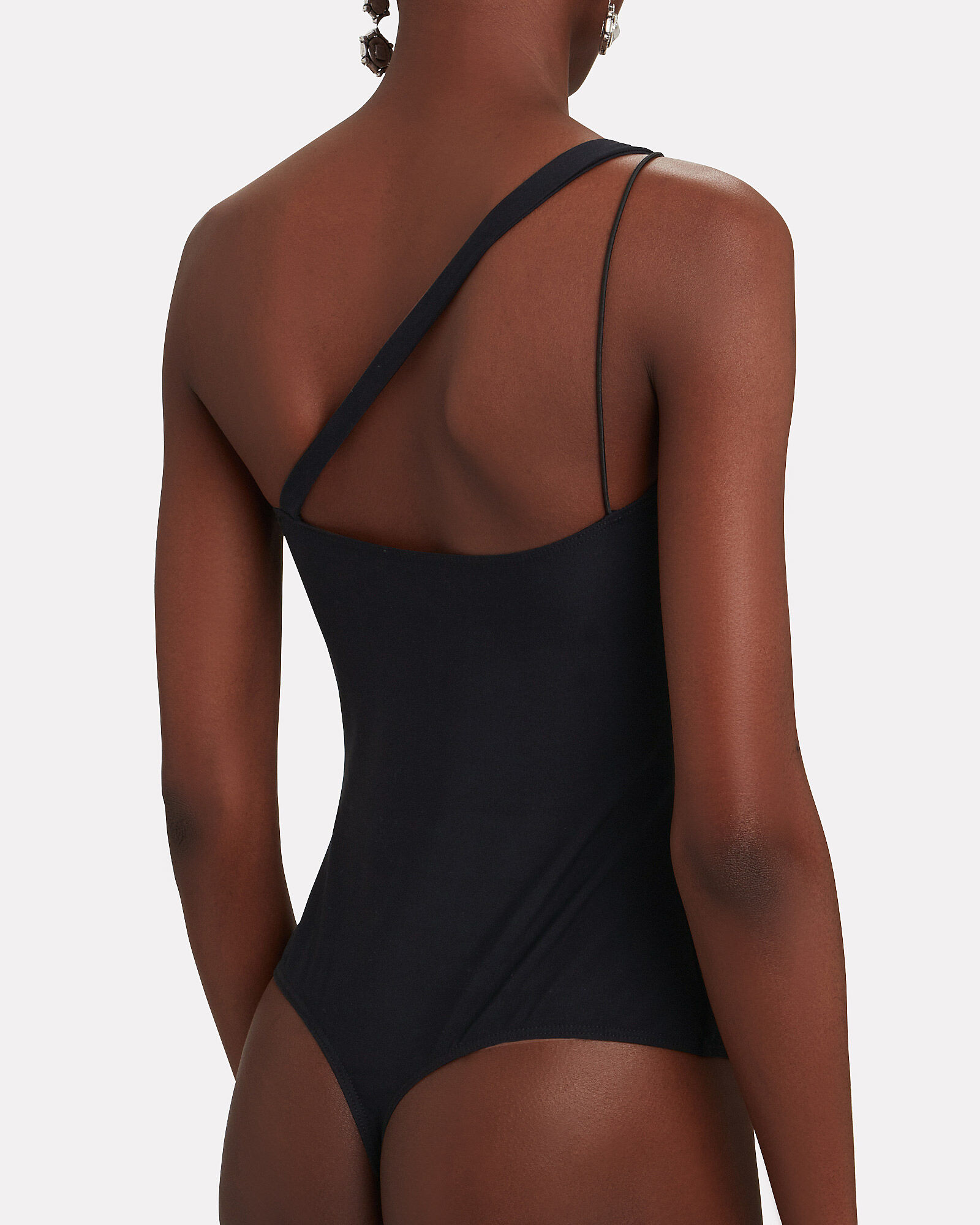 Archer One-Shoulder Bodysuit, BLACK, hi-res
