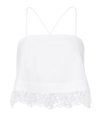 Bassett Crop Top, WHITE, hi-res