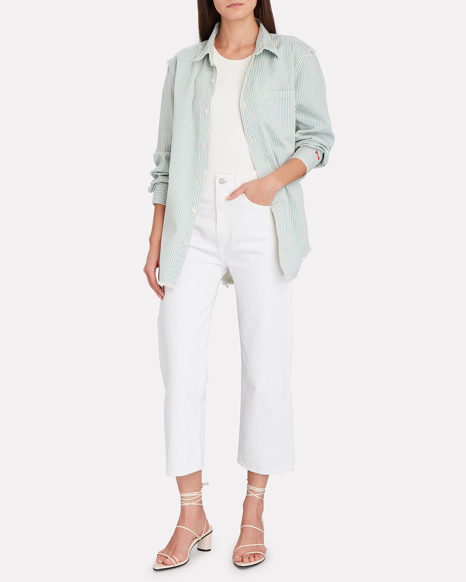 Pierce Cropped High-Rise Jeans, WHITE, hi-res