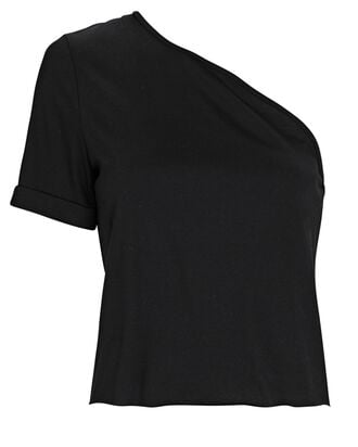 Stark One-Shoulder T-Shirt, BLACK, hi-res