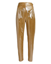 Nova Basque High-Rise Metallic Pants, BEIGE, hi-res