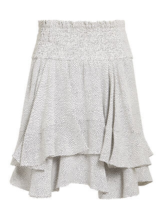 Vera Mini Skirt, WHITE/BLACK/SPECKLED PRINT, hi-res