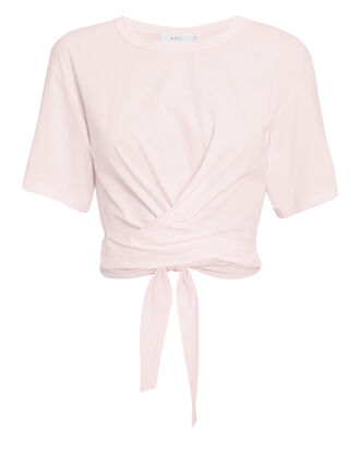 Jules Tie Back Light Pink T-Shirt, PINK, hi-res