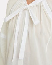 Cotton Voile Puff Sleeve Blouse, WHITE, hi-res