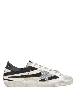 Superstar Zebra Low-Top Sneakers, BLK/WHT, hi-res
