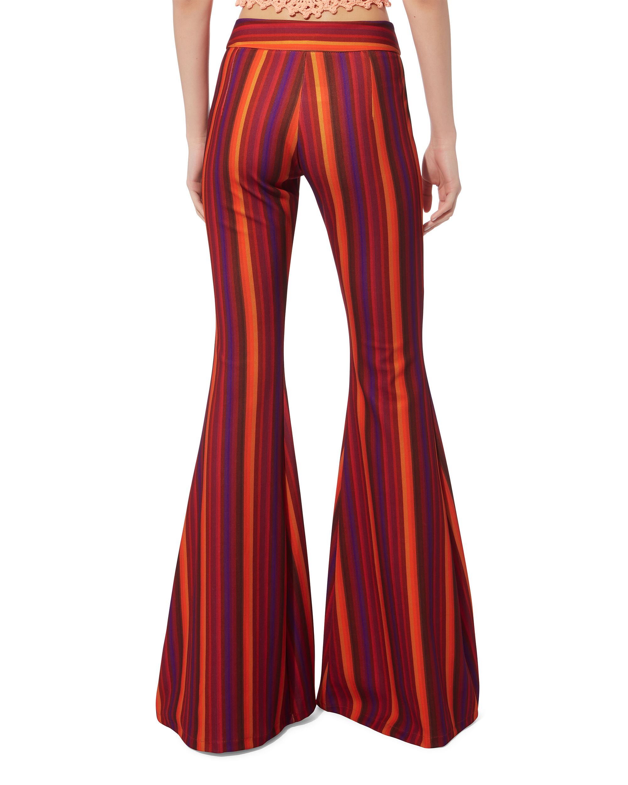 Woodstock Striped Flare Pants, MULTI, hi-res