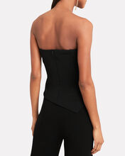 Strapless Asymmetrical Corset Top, BLACK, hi-res