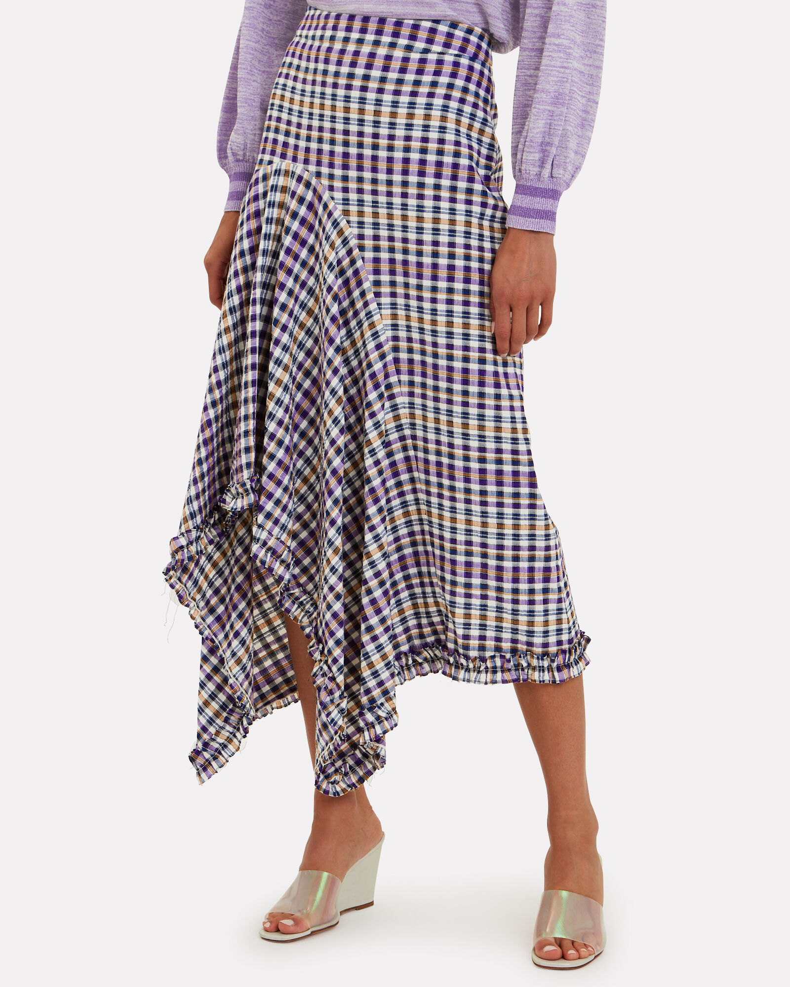 Juliane Plaid Midi Skirt, MULTI, hi-res