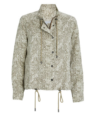 Tennessee Snake Print Utility Jacket, MULTI, hi-res