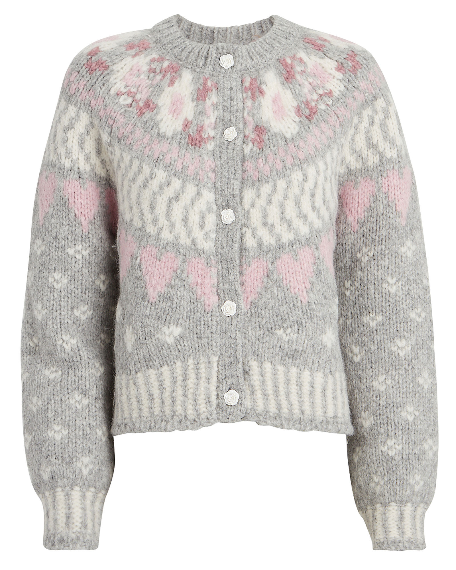 Jamie Fair Isle Cardigan, MULTI, hi-res