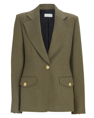 Saul Tailored Blazer, OLIVE, hi-res