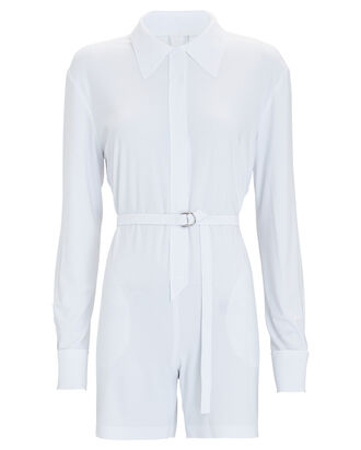 NK Jersey Shirt Romper, WHITE, hi-res